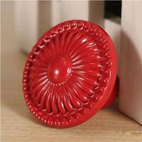 Wholesale Colorful Drawer - Wholesale-LaniGood Colorful Flower Ceramic Knob Door Cabinet Cupboard Drawer Handle