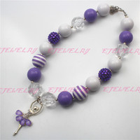Nouveau Style, Purple Ballet Girl Grossiste Girls Bubblegum Collier Chunky colliers CB497