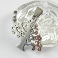 Wholesale Accessory Charm Supplier - stainless steel pendant necklace charms vintage life of tree new diy fashion jewelry accessories suppliers for jewelry 2.7cm*2.9cm 100pcs