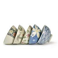 Wholesale Porcelain Soup Bowls - 1pcs japanese tableware ceramic rice bowl creative porcelain soup bowl 2J124