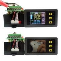 medidor de panel de pantalla lcd al por mayor-Envío gratuito DC 120 V 100A Pantalla LCD digital inalámbrica Medidor de voltímetro de corriente digital Amperímetro de energía Multímetro probador de panel Monitor de medidor
