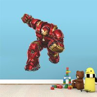 Wholesale Hero Wall Poster - WHOLESALE Iron Man super hero wall stickers kids room decor avengers a001. diy home decals cartoon movie mural art poster 5.0