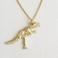 Wholesale Dragon Long Necklace - Punk Style Dragon Bone Necklaces For Party Women New Hot 18K Gold Filled Long Chain Necklace&Christmas Necklace
