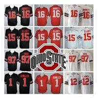 Rugby cucito LIMITED NCAA Ohio State Buckeyes # 15 Elliott # 97 Joey Bosa # 12 C.JONES # 16 BARRETT # 1 B.Miller Jersey all'ingrosso