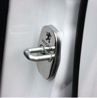 Wholesale peugeot door locks - 4pcs set Door Lock Decoration Protection Stainless Steel door lock cover case For Peugeot 308 3008 408 508 C4L accessories