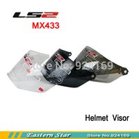 Wholesale Ls2 Mx455 - Wholesale-LS2 motorcycle helmet visor ls2 mx433 lens 3 colors Transparent Black Silver, Can be used together with the mx455 helmet
