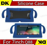 Wholesale Rubber Case For Tablet Pc - 50pcs Q88 Soft Silicone Case Kids Big ear Rubber Gel Cover For Q88 A33 A23 Tablet PC