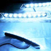 Wholesale Drl Lights Audi - 9 LED Car Daytime Running Light DRL Waterproof Daylight DC 12V FOR AUDI A6 Q5 Q7 2005-2008