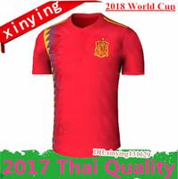 Wholesale Fabregas Spain Jersey - 2018 World Cup Spain Soccer Jersey 17 18 MORATA ISCO ASENSIO RAMOS SILVA PEDRO TORRES A.INIESTA FABREGAS Football uniforms Spain Jerseys