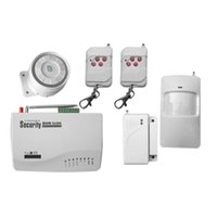 Wholesale Gsm Security Set - Wireless wired GSM Voice Home Security Burglar Android IOS Alarm System Auto Dialing Dialer SMS Call Remote control setting