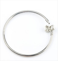 Wholesale New Bracelet 925 Silver - Fashion 4styles New 925 Silver Vogue SP Bangle Bracelets Fit European Charm Beads chains Jewelry DIY