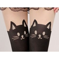Wholesale Female First - 151206 New! Summer Women Cute Cat Tail Leggings Female Catoon Stocking Sexy Sheer Pantyhose Stockings Long Sexy Stocking Quality first