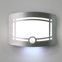 Wholesale Motion Sensor Battery Powered - Motion Sensor Activated LED Wall Light Sconce Wall Night Light Battery Powered LED Wall Lamps Hallway Staircase Indoor Wall Lamps Warm white