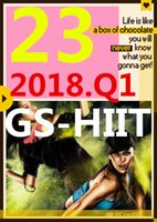 su sall Top-sale 2018.1 Gennaio Q1 Nuova routine GS 23 ST HIIT 30 minuti Esercizio Fitness Video GS23 ST23 Video DVD + musica CD