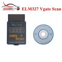 Wholesale 2016 Promotion ELM327 Vgate Scan Advanced OBD2 Bluetooth Scan Tool Support Android And Symbian Software V2