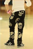 Wholesale Korean Printed Pants - Korean Fashion Boy Pants Harem Spring Autumn Children Trousers Skull Printed Causal Kids Pant Children's Clothing free shipping