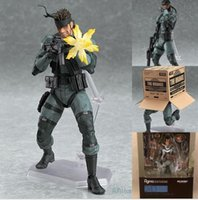 Wholesale Metal Gear Model - MGS METAL GEAR SOLID 2: SONS OF LIBERTY Figma 243 Snake Boxed PVC Action Figure Collectible Model Toy