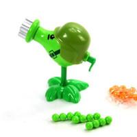 Wholesale Plants Zombies Figures - Plants vs Zombies Figure Toys Gatling Pea ABS Shooting Doll PVZ Toys