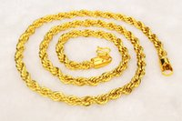 Wholesale Necklace Statment - fashion men twist statment necklace, sizes long 60cm 24k yellow gold plated torque,2016 jewelry bijouterie statement collier