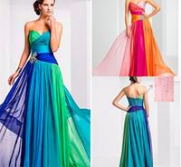 Wholesale Plus Size Peplum Belt - Emmani Gorgeous Women's Sweetheart Colorful Rainbow Belt Decoration Formal Special Evening Dresses Celebrity Dresses Banquet Party Gown