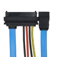 Wholesale Connector Pin Hdmi - Serial ATA to SATA SAS 29 Pin to SATA 7 Pin & 4 Pin Cable Male Connector Adapter Cable 0.7meters C06S2
