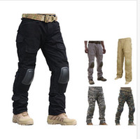 Wholesale Knee Pants For Men - Tactical Gen 2 Gen2 army cargo Integrated Battle Pants combat trousers with Detachable Knee Pads for paintball Airsoft hunting
