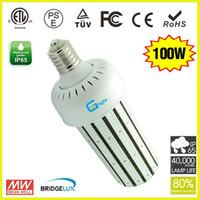 Wholesale White Lamp Post Light - 100 Watt LED Corn Light Cob Cluster 360 Degree Post Top Lamp with Mogul Base E40