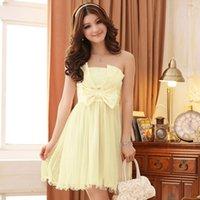 Wholesale Princess Sign - Sign Chest Wrapped Skirt And Elegant Bridesmaid Dress Bra Princess Waist Dress With Transparent Straps 3408