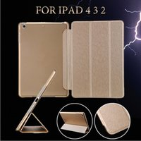 Wholesale Apple Auto - For iPad Pro 10.5 9.7 Mini Air 2 Foldable Magnetic Smart Cover Matte Cases silk pattern Cover With Auto Sleep Wake
