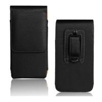 huawei p8 telefon çantası toptan satış-1 ADET Moda Siyah Renk Kemer Klip Kılıfı Cilt Kılıfı için Huawei Ascend P8 5.2