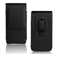 "Wholesale Smart Pouch Leather - 1PCS Fashion Black Color Belt Clip Pouch Skin Pouch Case for Huawei Ascend P8 5.2"" Smart Phone Bag"
