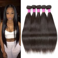 Best Selling Cambodia Brazilian Brazilian Straight Hair Weave 5/6 Bundles Indian peruana Indian Malaysian Straight Cheap Remy Human Hair Extensions