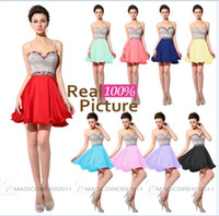 Wholesale Homecoming Cocktail Dresses Royal Blue - Cheap Coral Homecoming Dresses Short Red Lilac Yellow Royal Blue IN STOCK 2015 Occasion Dresses Sweetheart Beaded Cocktail Party Prom Gowns