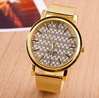 Wholesale Geneva Chronograph Watches - Brand New Geneva Wrist Watch Men Dress Gold Luxury Quartz Watches Sports Watches for Gift Free Shipping