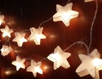 FEUX gros-STRING STAR WHITE ROMANTIQUE 20 PAPER PARTY, PATIO, DECOR, MARIAGE, GARLAND
