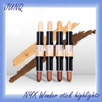 Wholesale Universal Spot Light - NYX Wonder stick highlights and contours shade stick Light Medium Deep Universal Pick up mixed available.001