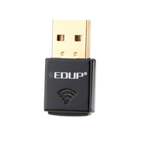 Wholesale Wireless Desktop Computer Adapter - EDUP Mini 2.4G 300Mbps 300M USB Wireless WiFi Adapter 802.11b g n Computer PC LAN Network Card Dongle External Wi-Fi Receiver C2575