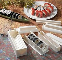 Wholesale Easy Sushi Maker Roller Equipment - 1set  10 Pieces DIY Japanese Sushi Master Device Mould Set Roll Sushi Easy Maker Roller Equipment