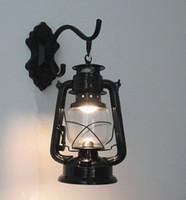 ingrosso antiche lampade-Lampada da parete lampada a cherosene Europa tipo E27 antico muro da bar, sala da tè di lampade e lanterne illuminazione corridoio lampada balcone