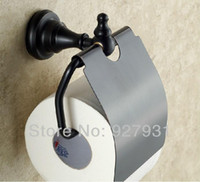 Wholesale Toliet Paper Holder Cover - FREE SHIPPING !Europe Style Wall Mounted Oil Rubbed Bronze Toliet Roll Paper Holder w Cover Toilet Paper Box 1001#01