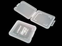 Wholesale New portable SD card Transparent Standard Memory Card Holder Box Card Cases Storage Case for SD SDHC Memory Card