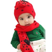 Wholesale Child Baby Hat Twinset - Amazing Fashion Beatles baby hat cap scarf twinset Cotton Beatles hat children hat+scarf free shipping TY1264