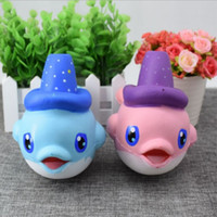 2018 Squishy Lovely Magic Hat Dolphin Jumbo Squishy Slow Rising Pendant Телефонные ремешки Charms Queeze Kid Toys Cute squishies Хлеб