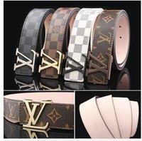 Wholesale Men Short Sleeve Cardigans - 2017 Deisgn Buckle Brand Belts for Men and Women Design Belt Luxury Cow Genuine Leather Belt