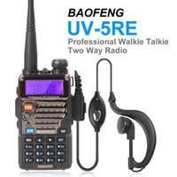 dijital telsiz telsizleri toptan satış-Toptan-2 adet Taşınabilir BAOFENG UV-5RE Dijital Walkie Talkie Seyahat DualBand Radyo Interkom Interkom 136-174 / 400-480 Mhz Telsiz