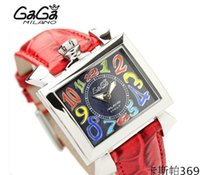 Wholesale Gaga Watches Italy - luxury gaga watch large dial 3D colorful number six hands chronograph complete calendar quartz watch for men black rubber strap Italy flag