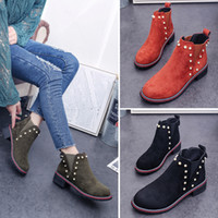 Wholesale british army boots for sale - Group buy New style autumn and winter retro Martin shoes British women s short boots with thick frosted wild student boots