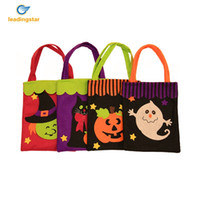 Wholesale Decorative Pumpkins - Wholesale- LeadingStar Cute Halloween Bags Trick or Treat Candy Bags Witches Pumpkin Bags for Kids Presents Decorative Props zk15