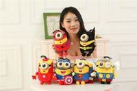 120PCS O Minions Despicable Me Plush Toy Stuart Kevin Bob Super Heroes The Avengers Presentes Stuffed Dolls Capitão América Homem de Ferro Batman DH