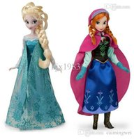 Wholesale Plastic Doll Joints - Wholesale-2PCS Lot Hot Sell Princess 11.5 Inch Dol Elsa and Anna Good Girl Gifts Girl Doll Joint Moveable